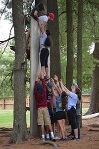 Upper School Wall Climb
