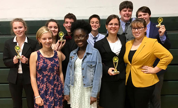 Bancroft Speech Team 2017-18