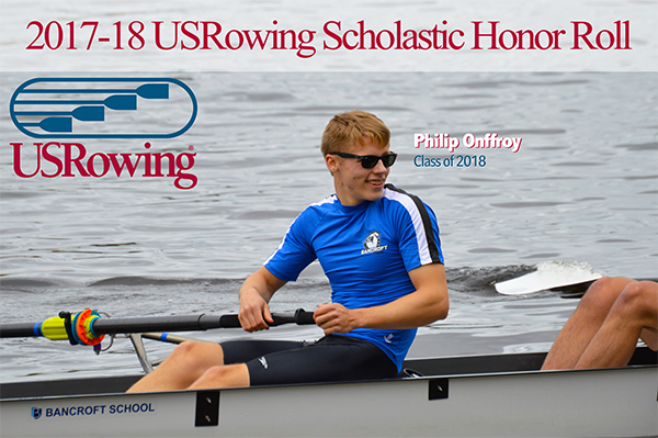 Onffroy USRowing Scholastic Honor Roll