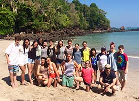 MS Students in Costa Rica