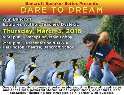 Bancroft Speaker Series Presents Ann Bancroft