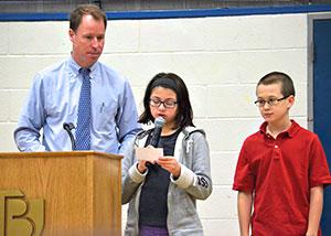 Trey Cassidy at January All-School Assembly