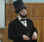 Actor portraying Lincoln