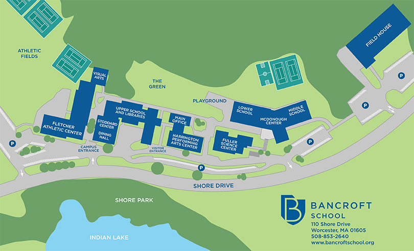 Campus Map of Bancroft School
