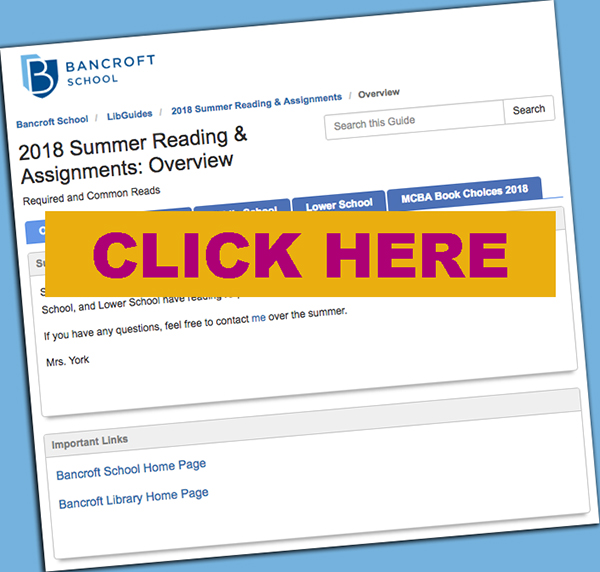 Click to go to Summer Reading Page