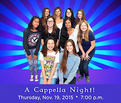 A Cappella Night! Nov. 19, 2015