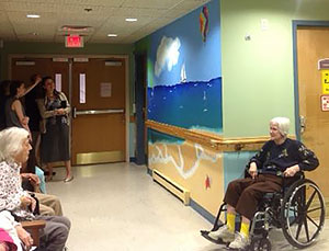 Mural at Shrewsbury Nursing Memory Clinic