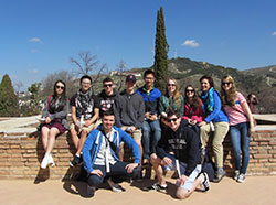 Spanish students in Spain
