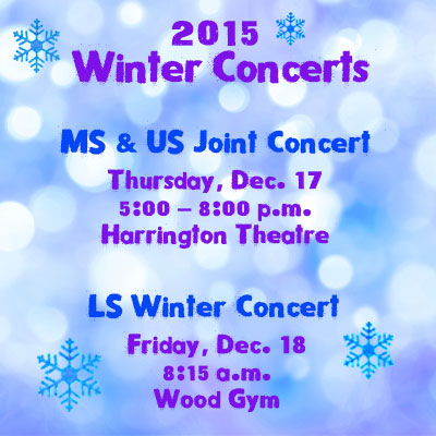 2015 WInter Concerts