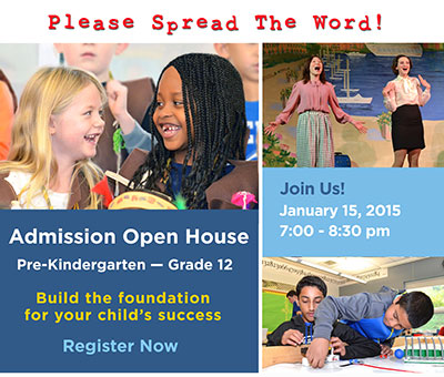 Admission Open House, Pre-K – Grade 12