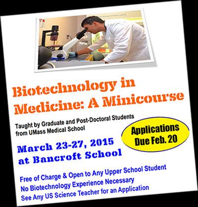 Biotechnology in Medicine Minicourse