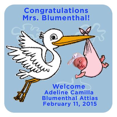 Congratulations Mrs. Blumenthal